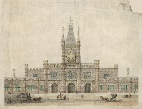 Archive/Image Reference - NRCA110059 Author - Great Western Railway Description of Drawing - Facade of Bristol Temple Meads Joint Station