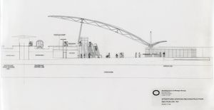 British Railways / Architecture & Design Group. Stratford Station Reconstruction Section on AA
