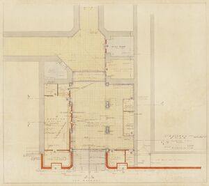 Stratford Station. London & North Eastern Railway. Stratford Station Booking Hall Plan (1939)