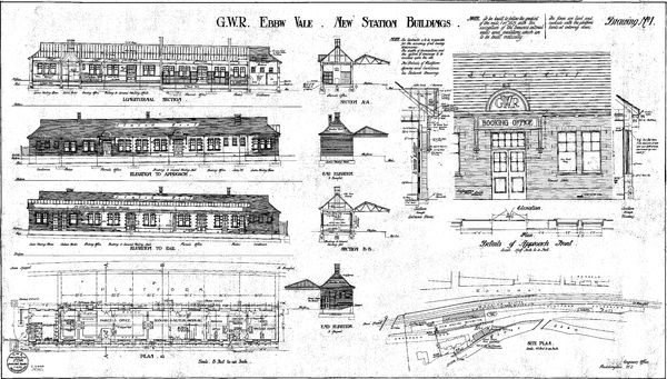 Drawing no.1 showing site plan, elevations and sections Please note this is a microfilm copy and not the original