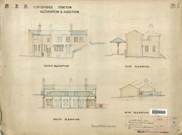 Drawing no.6 Elevations of Station and Station Master's House