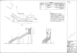 British Railways Board Smethwick Rolfe Street Station Replacement Staircase Lighting