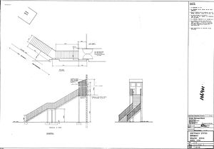 British Railways Board Smethwick Station Replacement Staircase General Layout [N.D]
