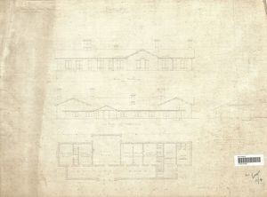Burley Station Elevation and Plan [ND]