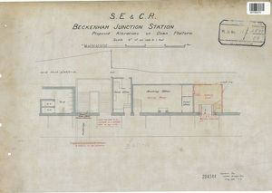 D.E & C.R Beckenham Junction Station - Proposed Alterations on Down Platform [1903]