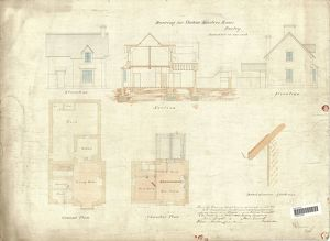 Drawing or Station Masters House Burley [1866]