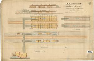 G.N.R Cambridge Branch. New Station at Letchworth – General Plan of station buildings