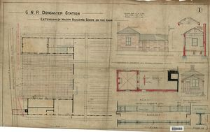 G.N.R Doncaster Station Extension of Wagon Building Shops on the Carr - Elevations and Sections [N