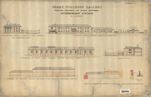 Great Northern Railway - Proposed Buildings for Stores Department Peterborough Station
