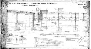 G.W & G.C.R High Wycombe - Additonal Goods Platform Roof Covering [1924]