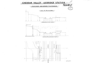 G.W.R. - Axbridge Station - Proposed Uncovered Footbridge [1907]