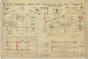 G.W.R. Tiverton Junction Station - Reconstruction of Roof [1901]