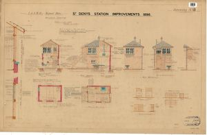 L & S.W.R. Signal Box Standard drawing - St. Denys Station Improvements, Drawing No