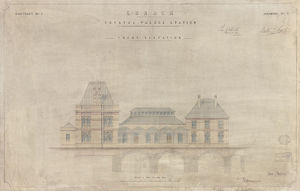 LB & SCR Crystal Palace Station Front Elevation [1875]