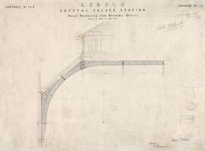 LB& SCR Crystal Palace Station - Roof Principal for Booking Office [1875]