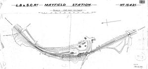 L.B & S.C.R Mayfield Station Track Layout [1916]