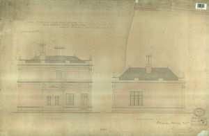 LBSCR DULWICH STATION SIDE ELEVATIONS [1867]
