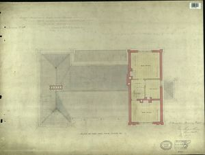 LBSCR NORTH DULWICH PLAN OF THE ONE PAIR FLOOR ETC [1867]