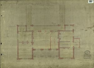 LBSCR NORTH DULWICH PLAN OF THE PRINCIPAL FLOOR [1867]