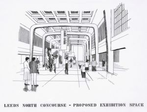 Leeds Station. [not stated]. Leeds North Concourse Proposed Exhibition Pace. n.d