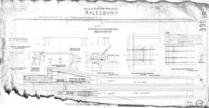 LNE Railway Great Central Section - Plan and Platforms Walls Etc - Aylesbury [1925]