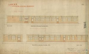 L&N.W.R Lancaster Station Enlargement - Buildings on Platform 2 [1899]