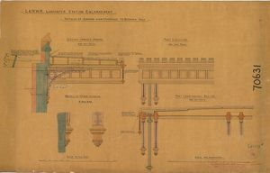 L&N.W.R Lancaster Station Enlargement - Details of Awning over Entrance to Booking