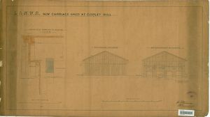 L&NWR New Carriage Shed at Copley Hill [1889]