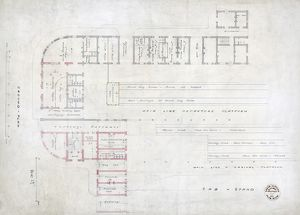 London Bridge Station. South Eastern Railway. Ground Plan. [registered in] 1853