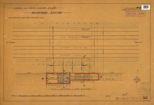 L&SWR Brookwood Station. Plan of Down Side Platform Level [1902]