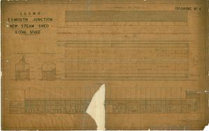 L&SWR Exmouth Junction New Steam Shed & Coal Stage Drawing No. 04