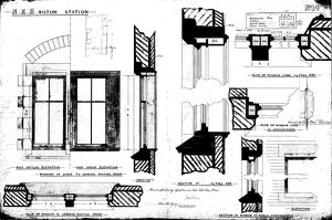 N.E.R Bilton [Alnmouth] Station - Additional Details for Windows [1886]