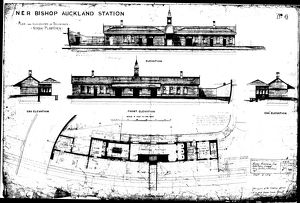 N.E.R Bishop Auckland Station - North Platform [1889]