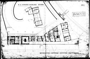 N.E.R Bishop Auckland Station Plan [1889]