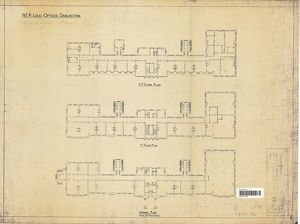 N.E.R Loco Offices Darlington - Stooperdale Offices Floor Plans [1910]