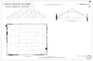 North London Railway - South Bromley Station Amended Plan of Roof [N.D]