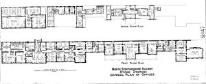 North Staffordshire Railway - Stoke Station General Plan of Offices [N.D]