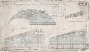 Paddington Station. Great Western Railway. Alterations - Details of New Main Roof