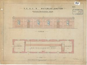 S.E & C.R. Waterloo Junction Station - Proposed Refreshment Room including plan