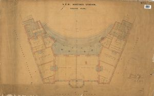 S.E.R Hastings Station - Ground Plan [1850]