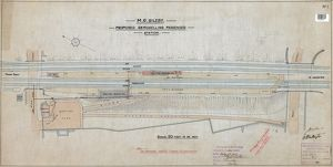 Sileby- proposed remodelling of passenger station (1912) (colour)