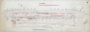 Sileby- proposed remodelling of passenger station (1912) (black/white/red)