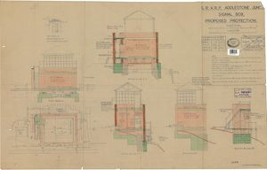 S.R. A.R.P. Addlestone Junction Signal Box - Proposed Protection [1942]