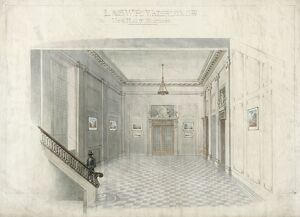 Waterloo. London & South Western Railway. 'New Hall & Staircases'